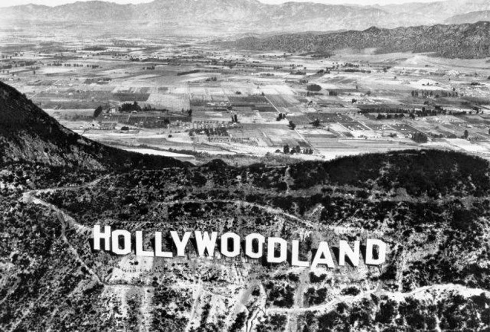 The Hollywoodland sign