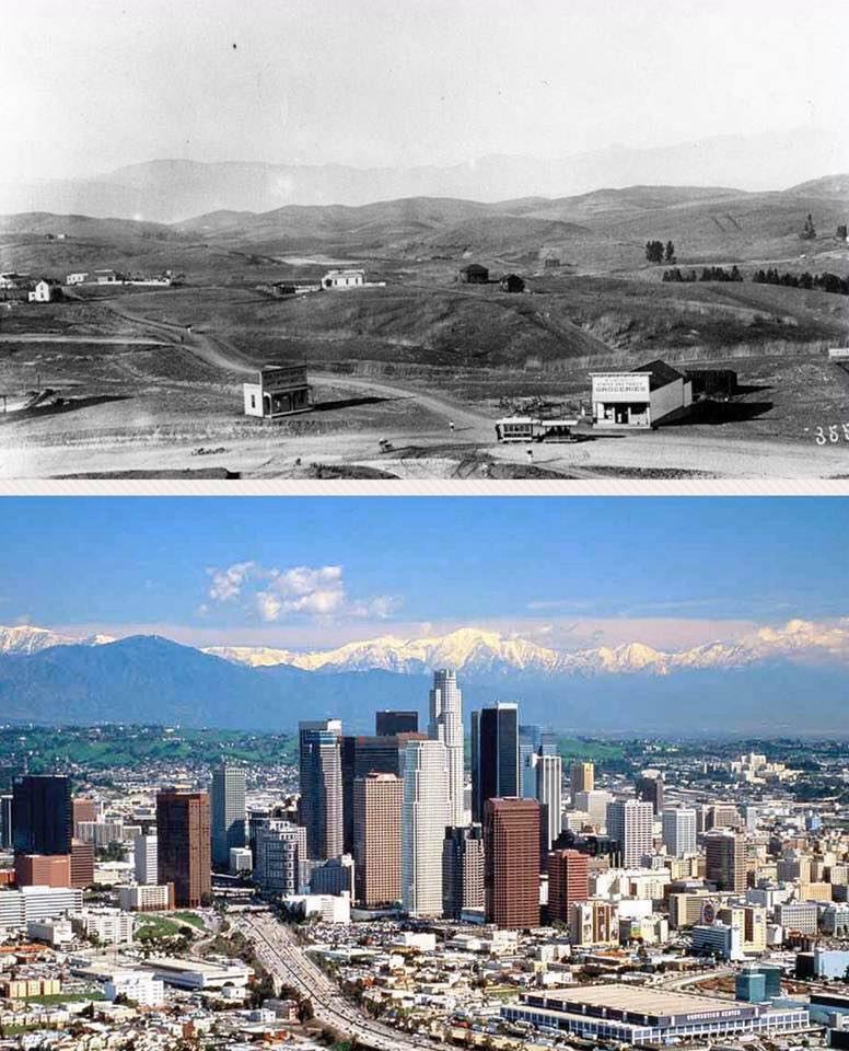 Los Angeles in 1901 and Now